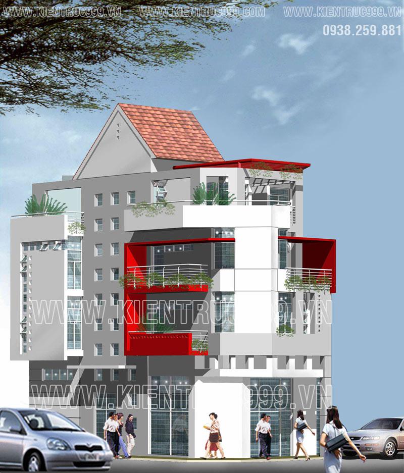 Nhà phố 2 mặt tiền đẹp này thấp thoáng hình hài của một căn biệt thự góc phố.