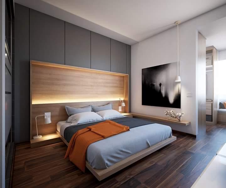 Phòng ngủ trông rất tây.