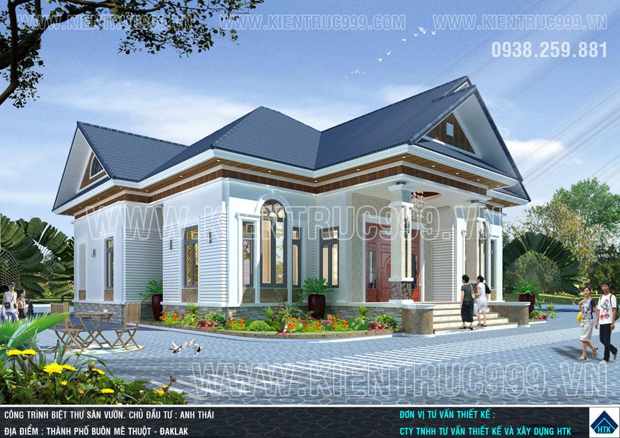 thiết kế nhà 1 tầng đẹp hợp phogn thủy mọi thành viên trong gia đình