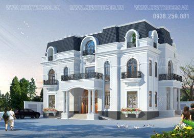 Thiết kế biệt thự 3 tầng theo phong cách tân cổ điển đẹp nhất 2016