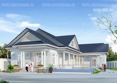 Biệt thự đẹp 1 tầng phong cách Châu Âu ngay cầu Mỹ Thuận - Vĩnh Long