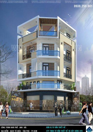 Nhà 2 mặt tiền hẻm xéo góc 1 trệt 3 lầu đẹp xinh ở Tô Hiệu-Tân Phú