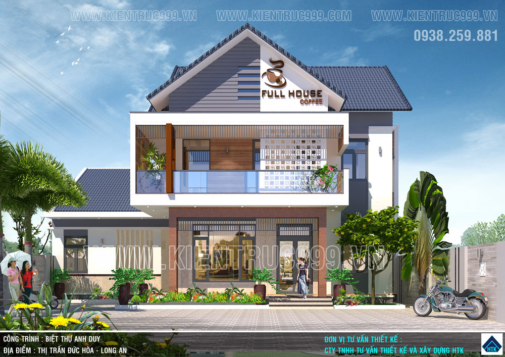 mẫu nhà 2 tầng rộng 10m đẹp 2019 mặt tiền hướng tây