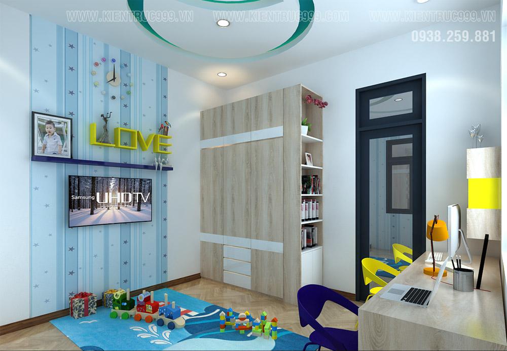 phòng trẻ em sắc màu nam tính