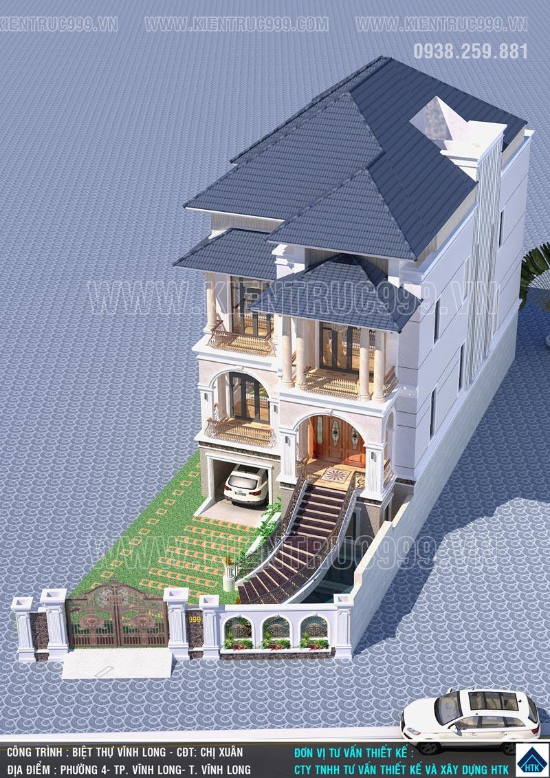 Mẫu biệt thự cổ điển 3 tầng đẹp được ưa chuộng có tư duy thiết kế mới.