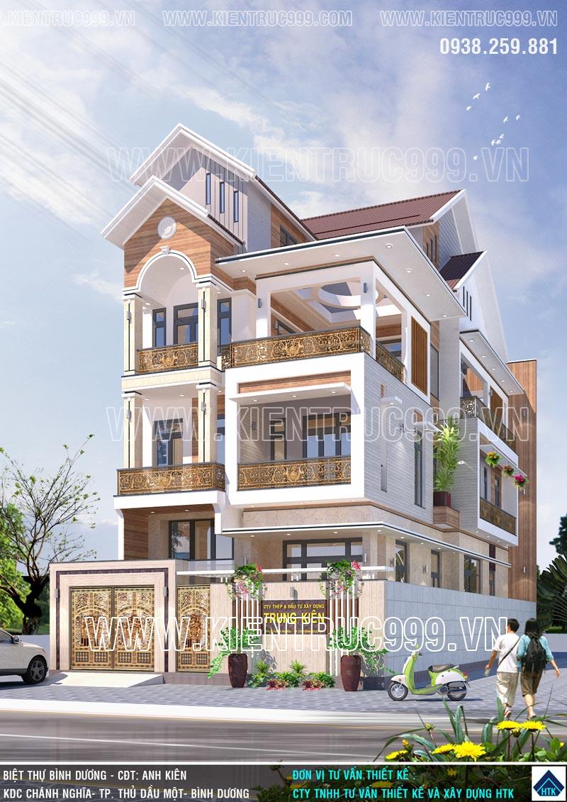 Công ty thiết kế xây dựng htk - Ngôi nhà nhiều màu sắc .