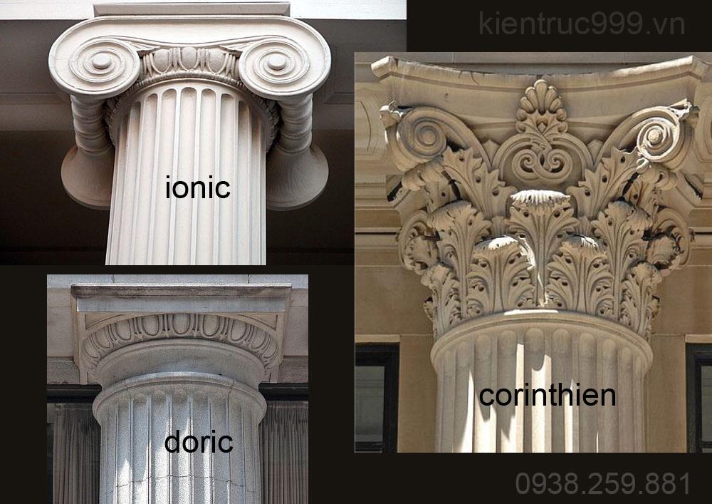 Thức cột trong thiết kế biệt thự phong cách tân cổ điển sang trọng