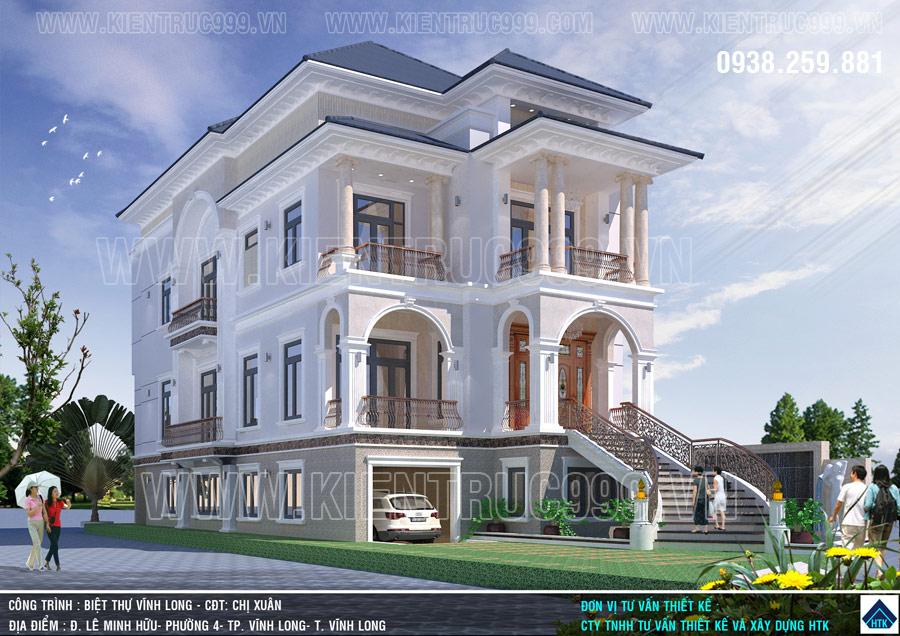 Mẫu nhà biệt thự Vĩnh Long mang một hơi thở mới mẻ hơn, hiện đại hơn và hợp thời hơn.
