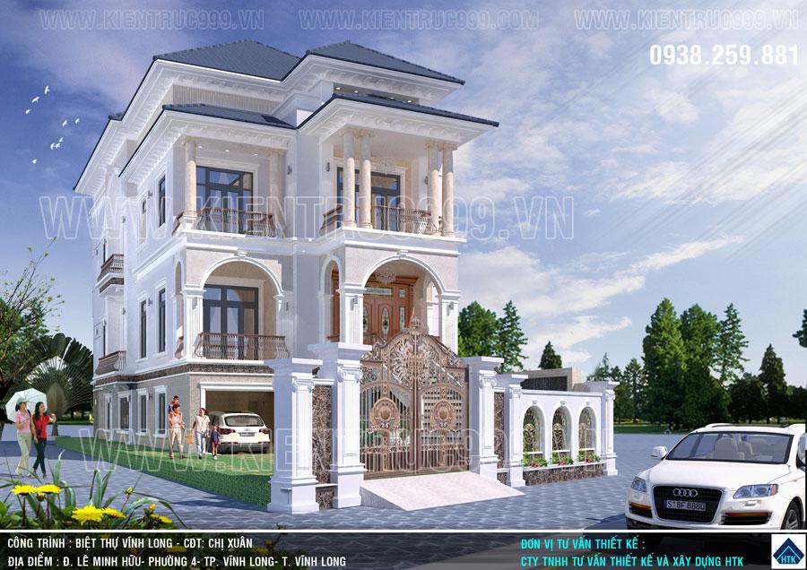 Mẫu nhà đẹp 3 tầng Vĩnh Long là điểm nhấn kiến trúc nhà ở cả vùng