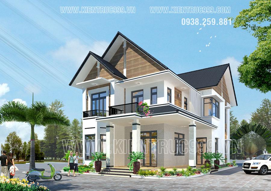 Thiết kế nhà ở 2 tầng quận 12 tphcm theo phong thủy
